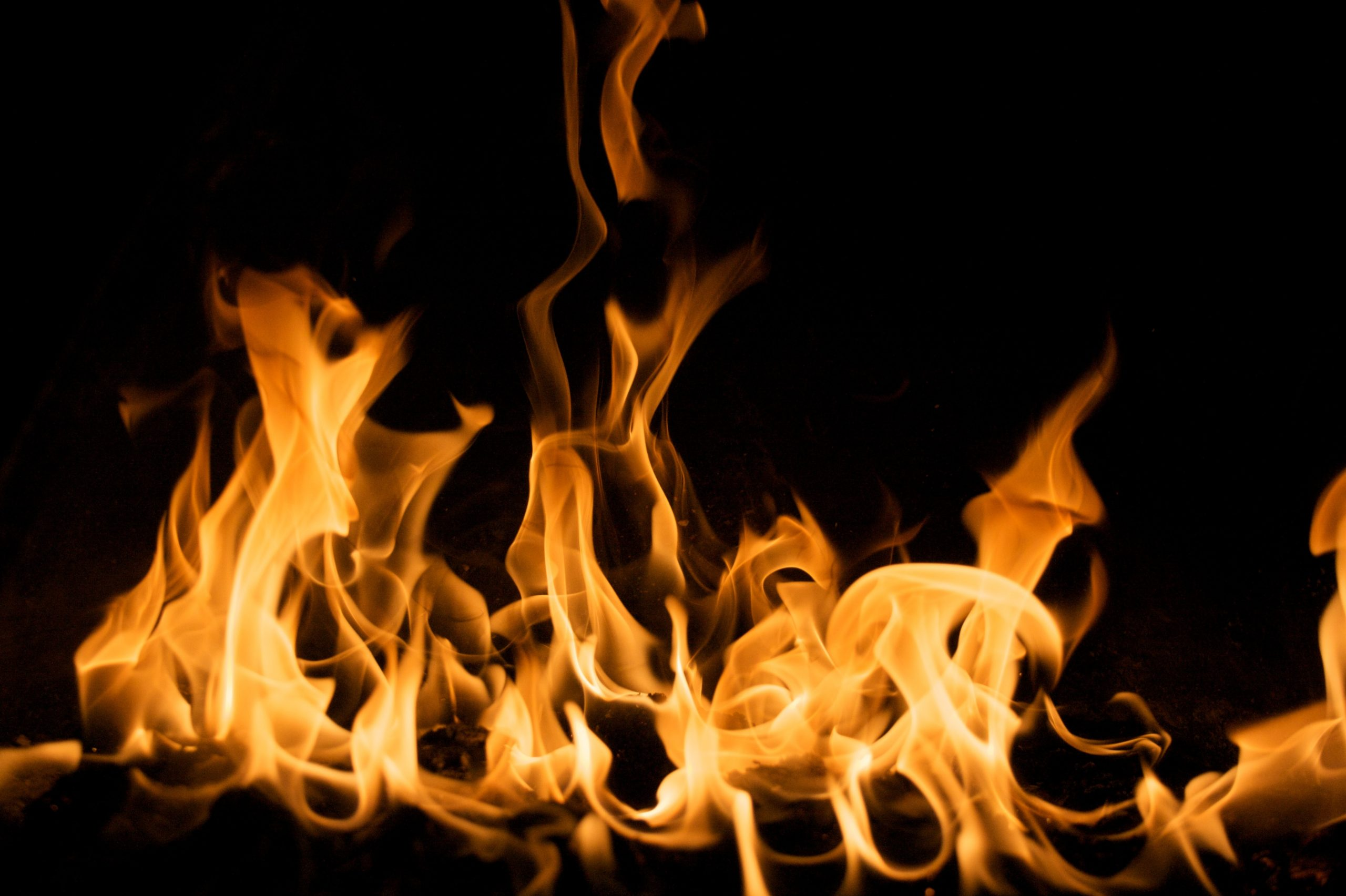 yellow fire digital wallpaper